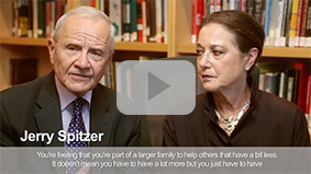 Photo of Jerry and Linda Spitzer. Link to their video
